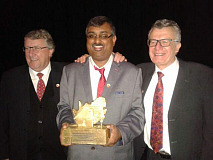 From left to right are - Tony Lloyd (Imizi), Ashwin Ramhith (Imizi) and Lance del Monte (The Home Market)