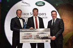 Jaco Scheepers, a technician at Land Rover Bedfordview, in Gauteng, is this year's winner of the coveted Technician of the Year award