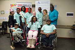 Welcoming new ambassadors at offices of National Council of Persons with Physical Disabilities SA in Edenvale
