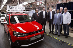 Volkswagen South Africa manufactures 500 000th Polo at its Uitenhage plant