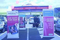 "KIA Grand Sedona drives Imperial Road Safety's ""Car Seats for Kids"" in Cape Town"