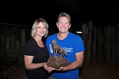 Alwyn and Melanie Jordaan of Namibia, winners of the inaugural International Spirit of Amarok competition