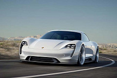 World premiere of the first battery-powered four-seat concept car from @Porsche