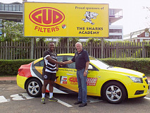 Young Sharks player receives vehicle sponsorshi