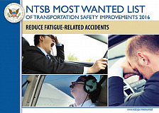 NTSB 'most wánted' list for 2016: Reduce fatigue-related crashes