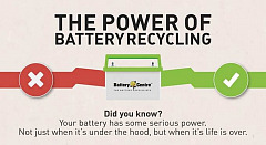 Recycle your car battery to keep the environment safe!