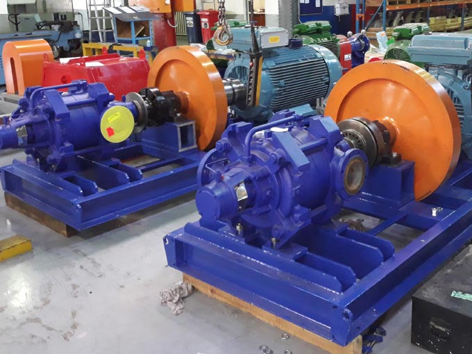 A unique flywheel water pump system that is able to continue pumping long enough to mitigate the possible effects of water hammer in the event of power failures was developed by KSB Pumps and Valves
