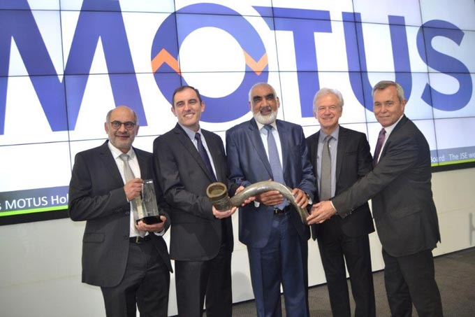 Motus Holdings lists on the Johannesburg Stock Exchange