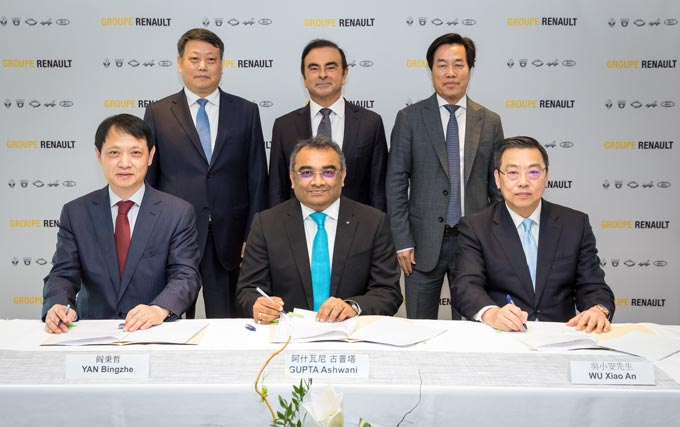 2018 - Signature of a strategic cooperation agreement Renault and Brilliance with Liaoning Province, China