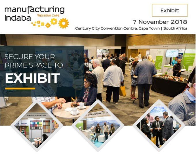 Secure your prime space now to Exhibit on 7 Nov in Cape Town at Manufacturing Indaba