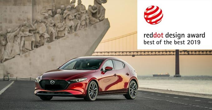 The soon to launch in SA, All-New Mazda3 wins top prize at 2019 Red Dot awards
