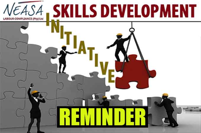 Important reminder: Workplace Skills Plan and Annual Training Report deadline looming – 30 APRIL 2019