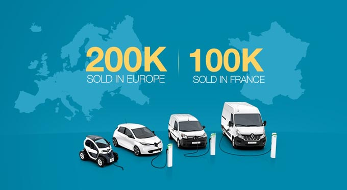 200,000 Renault electric vehicles sold across Europe!