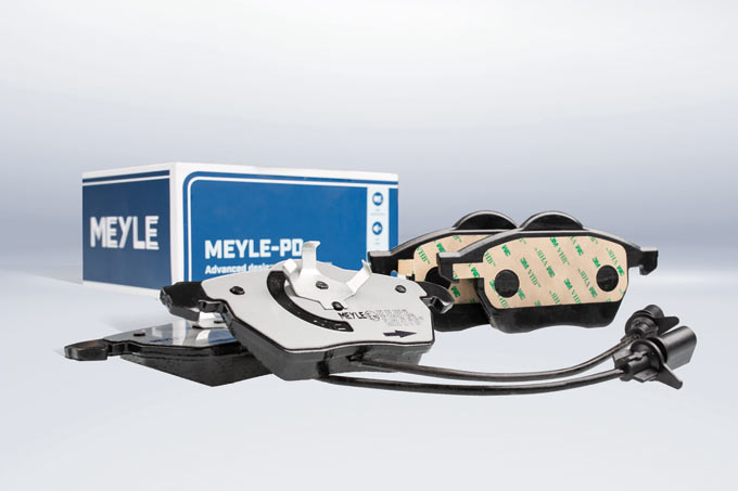 Focus on noise-reduced performance: MEYLE-PD brake pads with technically advanced friction pad compound