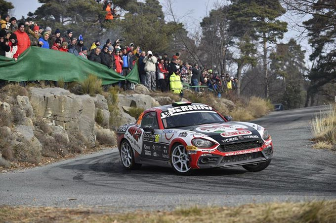 Abarth 124 rally Kicks Off the 2019 Season with an FIA R-GT Cup Win in the Monte Carlo Rally