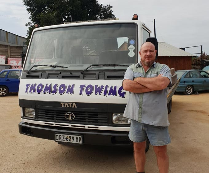Thomsons Towing built on the back of Tata Trucks