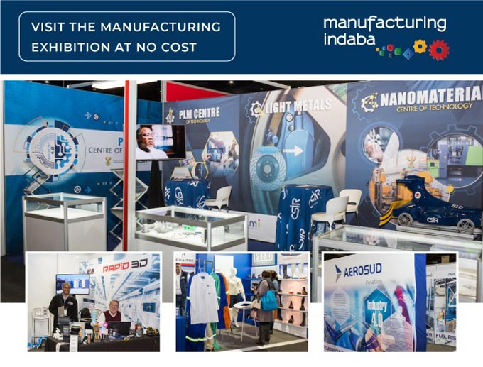 You are invited to register NOW for free entrance to visit the upcoming Manufacturing Indaba Exhibition