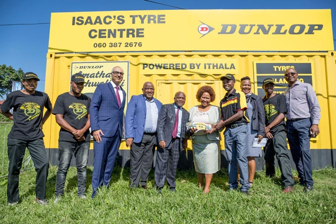 Guests and dignitaries attended the official opening of the 6th Dunlop Container Tyre Fitment centre in Gamalakhe Township on the KZN South Coast. As part of a drive towards sustainable township entrepreneurship, Sumitomo Rubber South Africa (Pty) Ltd (SRSA) has partnered with the KZN Economic Development, Tourism and Environmental Affairs (KZN EDTEA) and iThala Development Finance Corporation in KwaZulu-Natal to establish a minimum of 25 containerised tyre fitment centres in KZN.