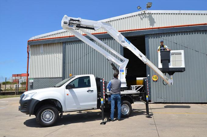 Unique D-MAX aerial platform application reaches for the sky
