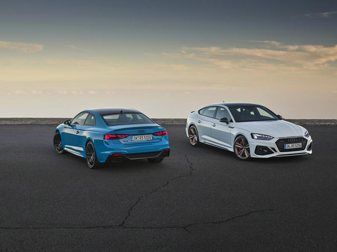 Audi's performance range extends with two distinct updates: the new RS 4 Avant and RS 5 family