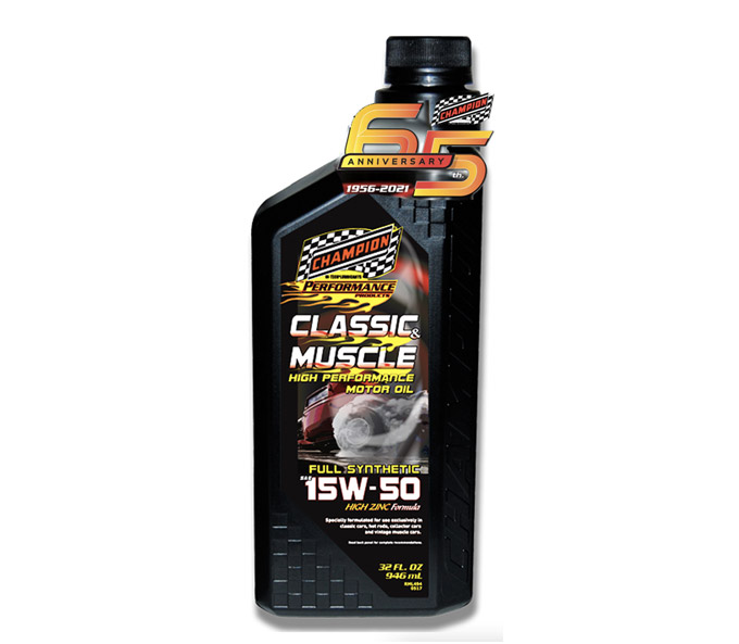 Champion Classic & Muscle 15w-50 Motor Oil is a Top-Tier Choice for Vintage Cars and Trucks