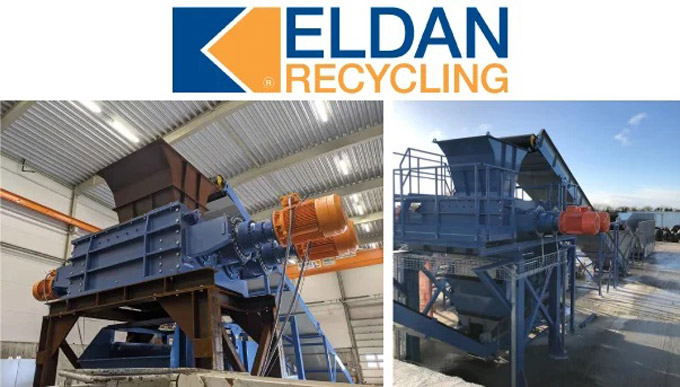 The Eldan Twin Shaft Clean-Cut Tyre Shredder will be introduced at Tyrexpo Asia 2021