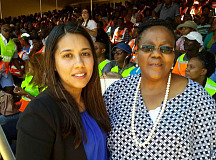 Engen General Manager Corporate Affairs, Tasneem Sulaiman Bray with Minister of Transport Dipuo Peters