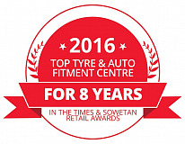 Tiger Wheel & Tyre is The Times and Sowetan's 'Top Tyre and Auto Fitment Centre'