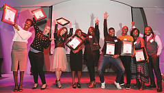 Ask Afrika Icon Brands Top 10 winners on stage