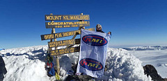 Andrea Bogner, the owner of Bogner Motors in Johannesburg and the Chairperson of MIWA's Highveld Region, recently summited Kilimanjaro in an effort to raise funds for eight needy causes.