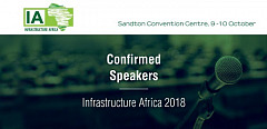Confirmed Speakers for Infrastructure Africa, 9-10 October 2018