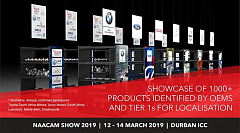 NAACAM Show 2019: Showcase of 1000+ products identified by OEMs and tier 1s for localisation.