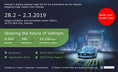 Automechanika Ho Chi Minh City 2019 – now is your chance to join !