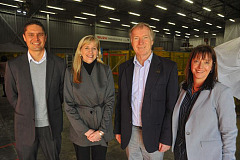 Attending today's official announcement of Isuzu's partnership with Propella are from left, Gregory Wood, Isuzu Purchasing Manager, Anita Palmer, Propella Business Incubation Manager, Professor Andrew Leitch, Chairman of the Propella Board and Denise van Huyssteen, Isuzu Executive Corporate Affairs.
