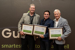 FROM LEFT TO RIGHT : Geoff Jooste, Jeff Osborne and Brand Pretorius.