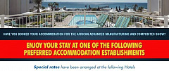 Secure your accommodation for the African Advanced Manufacturing and Composites Show