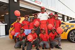 "South Africa's ""Township Tornado"" inspires youth at Festival Of Motoring with road safety workshop"