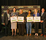 From left to right: Nunben Dixon, Head of Gumtree Auto; Linda du Preez, Sales Manager: Gumtree Auto, Emma Demmer, DP: McCarthy Volkswagen Umhlanga, Nolwazi Ntshingila, HR Clerk: McCarthy, Lisa Mallett, Marketing & Communications Director Jaguar Landrover and Jeff Osborne, Head of Key Accounts: Gumtree Auto.