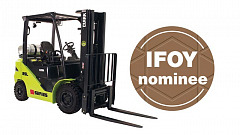 The internal combustion engine counterbalanced truck S25 of the Clark S-Series qualified for the finals of the IFOY Awards 2019 in the