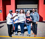 From left to right: Winston Khumalo, Marketing, Castrol South Africa; Nonhlanhla Metsing, Head of Sales, Castrol South Africa; Karen Swanepoel, winner of the Ford Focus; Karen's mother; Shane Solomon, Head of Marketing, Africa, Castrol South Africa