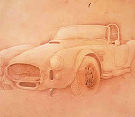 Classic Automotive Art-on-Leather creations, carved and painted