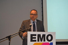 Christoph Miller, managing director EMO Hannover, doing a presentation at the EMO Hannover 2019 media conference in Sandton on 13 February 2019