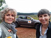 Jenni Trethowan (left), founder member of Baboon Matters Trust, and Dr Paula Pebsworth (right), scientific advisor with the Baboon Matters Trust opted for the Fiat Fullback as their vehicle of choice, during a research expedition in Sabie, Mpumalanga.