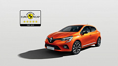 5 stars at the EURO-NCAP tests for the all-new Renault Clio; the best of safety for all