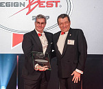Luc Donckerwolke (left), chief design officer of the Hyundai Motor Group, receives AUTOBEST's DESIGNBEST award for 2019 from Okan Altan, one of the jury members of AUTOBEST.