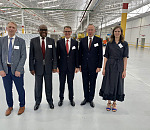 Photo from left to right: Paul Hiel, Bosal Division Operations Director Lummen – Belgium; Honourable Deputy Minister Fikile Majola; Karel Bos, Chairman BOSAL; Embassy of Belgium - Ambassador Didier Vanderhasselt; Elisabeth Bos (daughter)