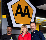 Noelan Vandayar MD and Owner of the AA Auto Centre, Mercia Jansen MD of Motul SA, Willem Groenewald CEO of AA
