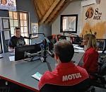 Al Your Pal (left), interviewing Taki Bogiages (bottom right) and Mercia Jansen about the Know Your Oil campaign powered by Motul